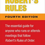 Notes and Comments on Robert's Rules, Fourth Edition